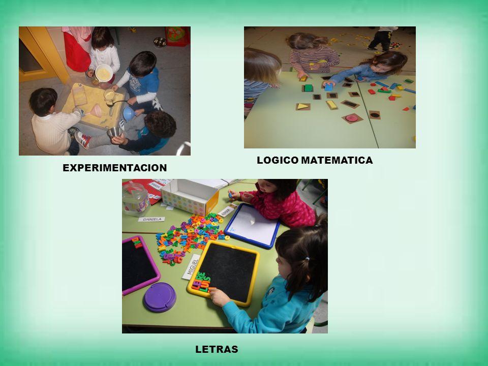 EXPERIMENTACION LOGICO MATEMATICA LETRAS