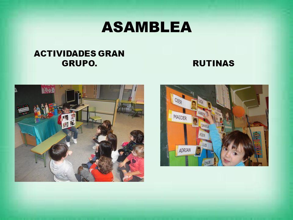 ASAMBLEA ACTIVIDADES GRAN GRUPO.RUTINAS