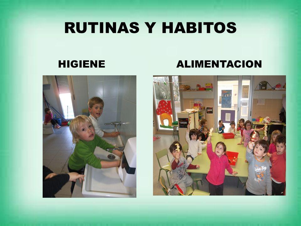 RUTINAS Y HABITOS HIGIENEALIMENTACION