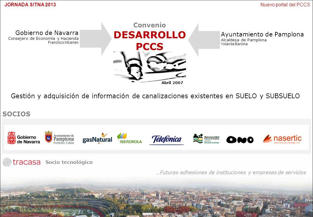 Nuevo portal del PCCSJORNADA SITNA 2013 Gobierno de Navarra Consejero de Economía y Hacienda Francisco Iribarren Ayuntamiento de Pamplona Alcaldesa de