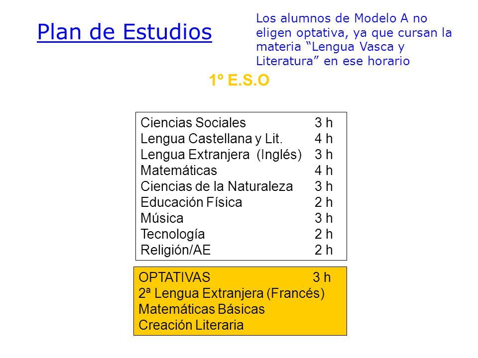 2º E.S.O.Ciencias Sociales3 h Lengua Castellana y Lit.