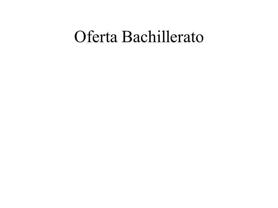 Oferta Bachillerato