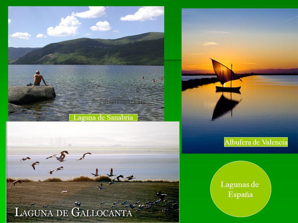 Laguna de Sanabria Albufera de Valencia Lagunas de España