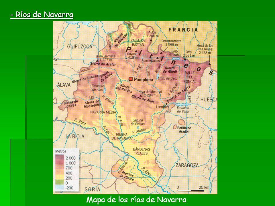 - Ríos de Navarra Mapa de los ríos de Navarra