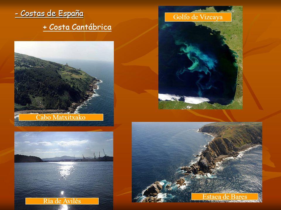 - Costas de España + Costa Atlántica * Costa de Galicia