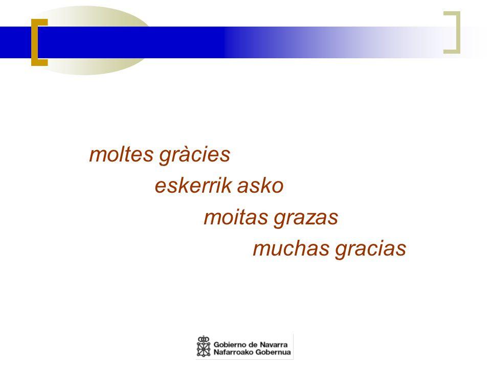 moltes gràcies eskerrik asko moitas grazas muchas gracias