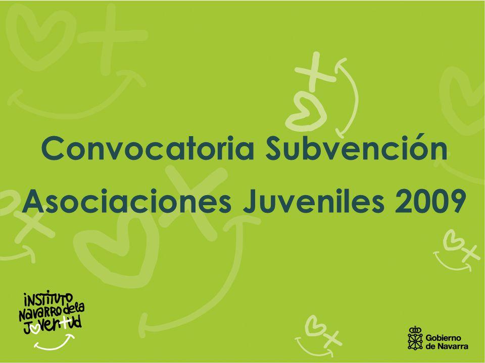 Convocatoria Subvención Asociaciones Juveniles 2009