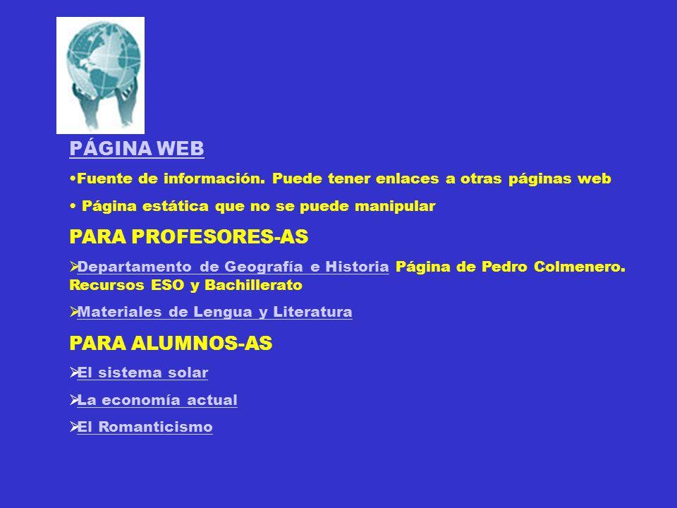 PÁGINA WEB Fuente de información.