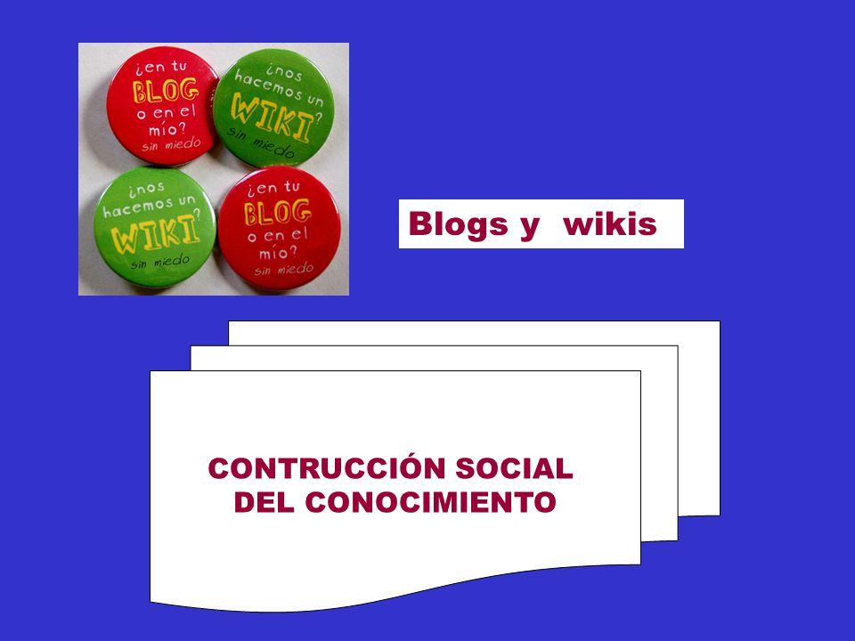Blogs y wikis CONTRUCCIÓN SOCIAL DEL CONOCIMIENTO