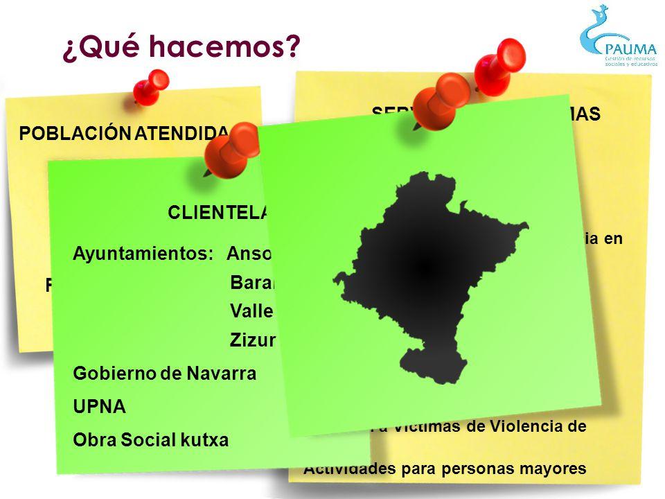 SERVICIOS/PROGRAMAS Escuela Infantil Ludotecas - Ludoguarderías Servicios de Respiro Familiar Centro de Atención a Familias Atención a la Infancia y A