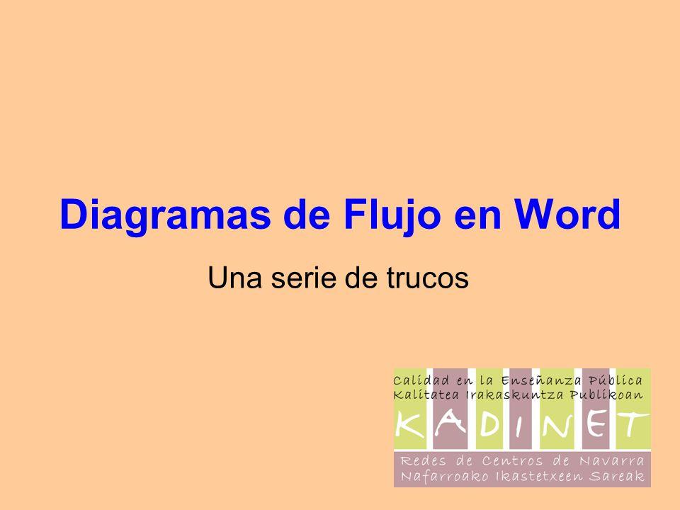 Diagramas de Flujo en Word Una serie de trucos