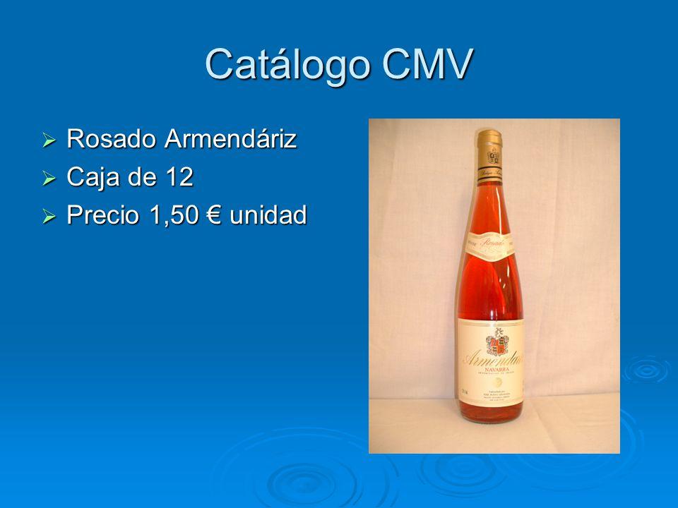Catálogo CMV Vino Blanco Vino Blanco Caja de 12 Caja de 12 Precio 1,50 unidad Precio 1,50 unidad