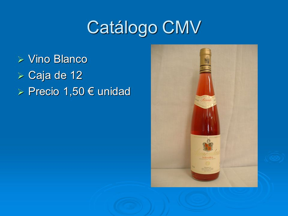 Catálogo CMV Tinto Crianza Tinto Crianza Caja de 12 Caja de 12 Precio 3 unidad Precio 3 unidad