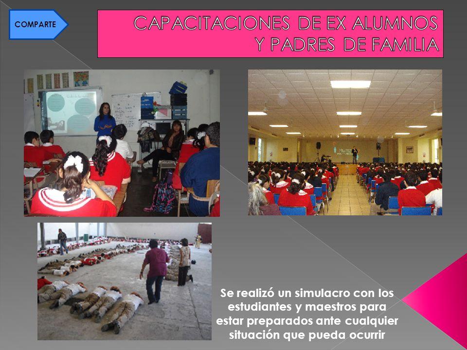 Se realizó un simulacro con los estudiantes y maestros para estar preparados ante cualquier situación que pueda ocurrir COMPARTE