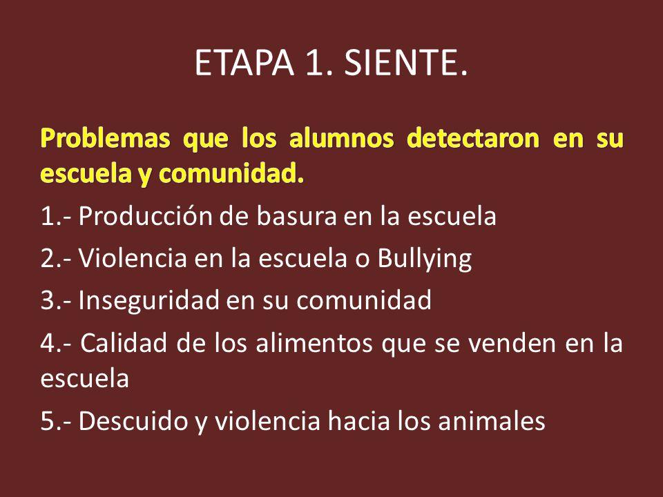 ETAPA 1. SIENTE.