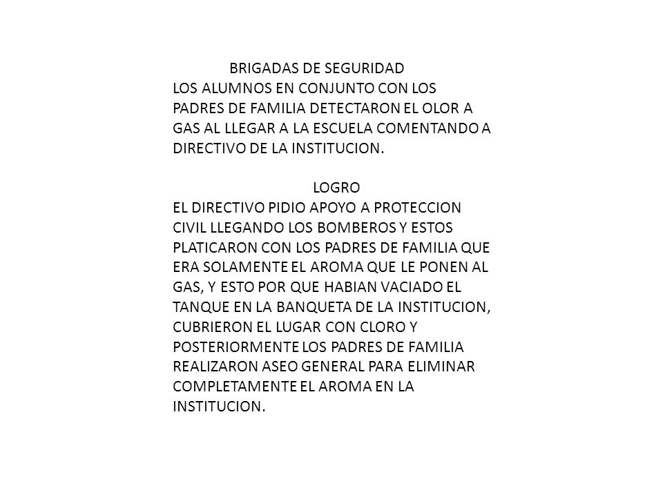 FECHAACTIVIDADESRESPONSABLESMATERIALES NECESARIOS DICIEMBREPREVENCION DE LA SALUD DIRECTIVO PADRES Y ALUMNOS ENFERMERAS Y VACUNAS DICIEMBREBRIGADAS DE SEGURIDAD DIRECTIVOCAMION DE BOMBEROS ABRILNO VIOLENCIA DIRECTIVO Y DOCENTES PELICULAS Y PROYECTOR MAYOCHAPOTEADE RO SIN UTILIDAD DIRECTIVO Y PADRES DE FAMILIA LONAS JUNIOCONFERENCIA A PADRES DE FAMILIA DIRECTIVO Y DOCENTES PELICULAS Y PROYECTOR