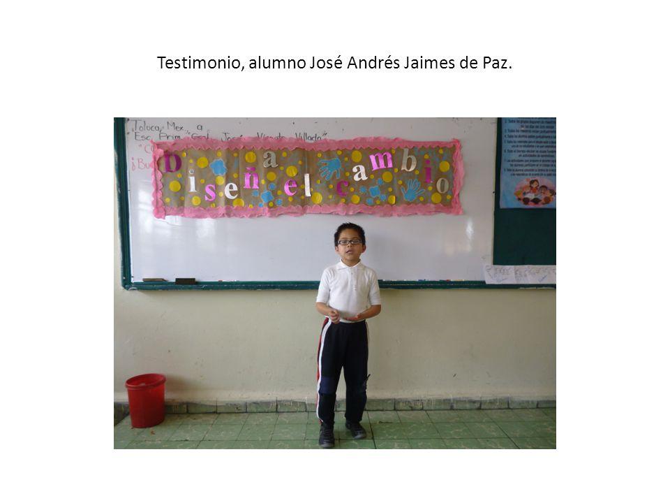 Testimonio, alumno José Andrés Jaimes de Paz.