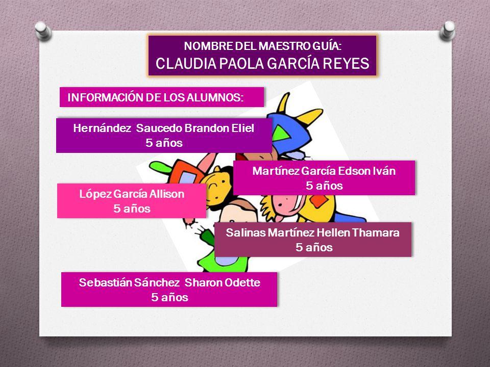 NOMBRE DEL MAESTRO GUÍA: CLAUDIA PAOLA GARCÍA REYES NOMBRE DEL MAESTRO GUÍA: CLAUDIA PAOLA GARCÍA REYES INFORMACIÓN DE LOS ALUMNOS: Sebastián Sánchez