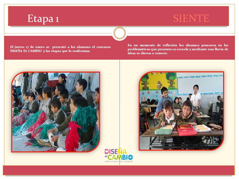 El jueves 17 de enero se presentó a los alumnos el concurso DISEÑA EL CAMBIO y las etapas que lo conforman. En un momento de reflexión los alumnos pen