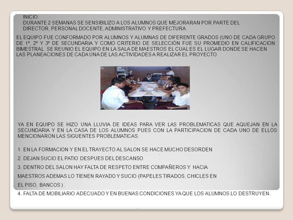 9.VISITAR MINIMO UNA VEZ A LA SEMANA LOS SALONES CON CARTELES Y MENSAJES ALUCIVOS AL RESPETO.
