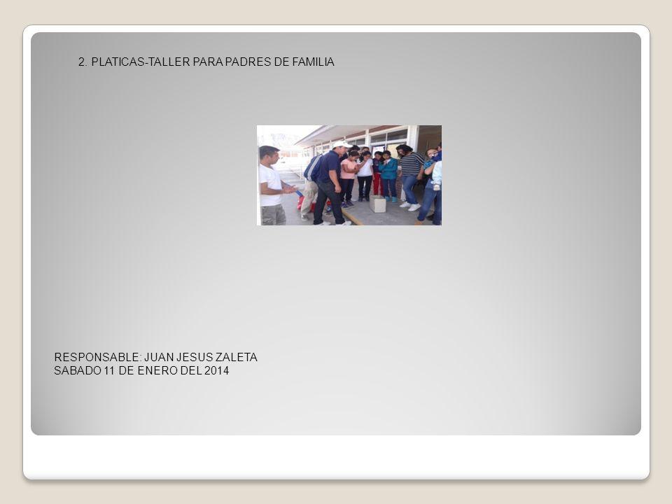RESPONSABLE: JUAN JESUS ZALETA SABADO 11 DE ENERO DEL 2014 2.