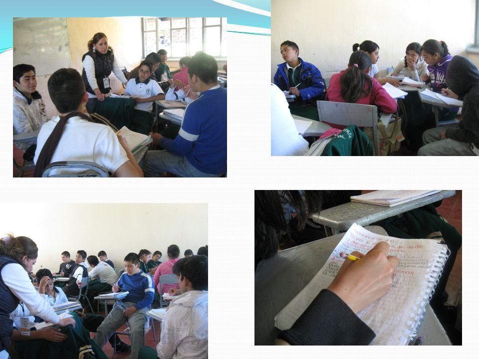 Una vez que en equipo consideraron los problemas presentes en su escuela, compartieron sus opiniones con el resto del grupo a manera de plenaria.