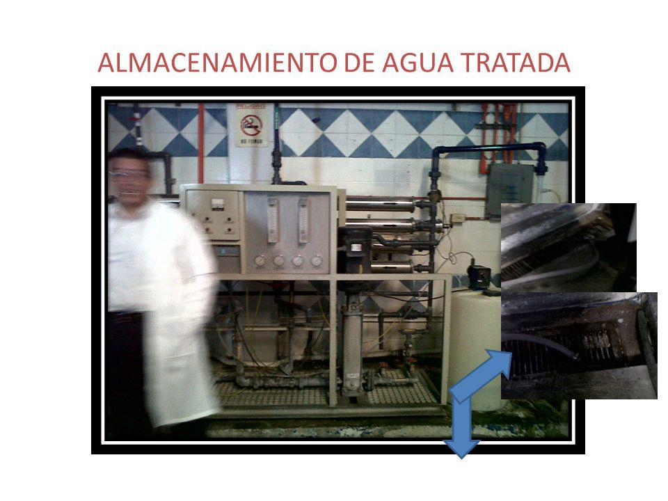 ALMACENAMIENTO DE AGUA TRATADA