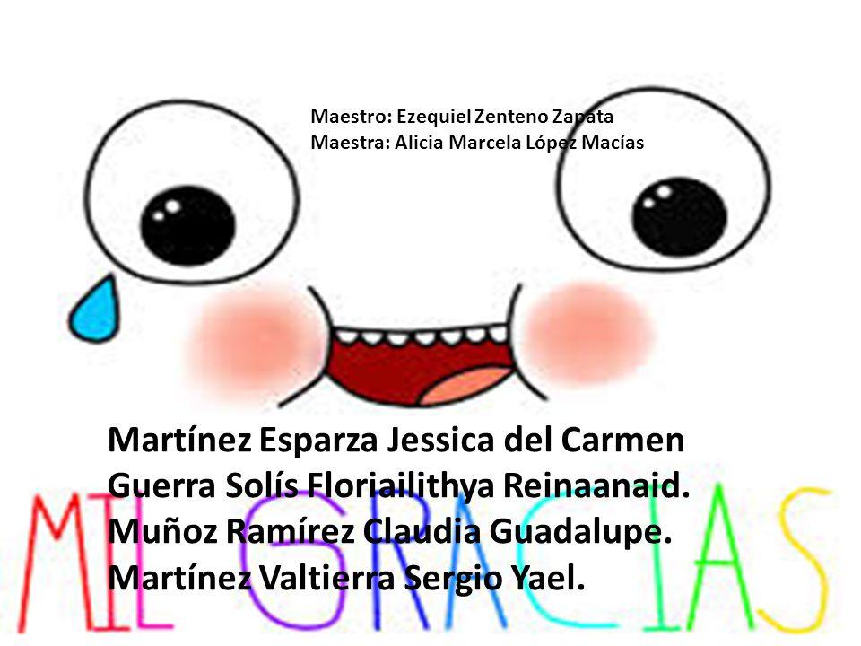 Martínez Esparza Jessica del Carmen Guerra Solís Floriailithya Reinaanaid. Muñoz Ramírez Claudia Guadalupe. Martínez Valtierra Sergio Yael. Maestro: E