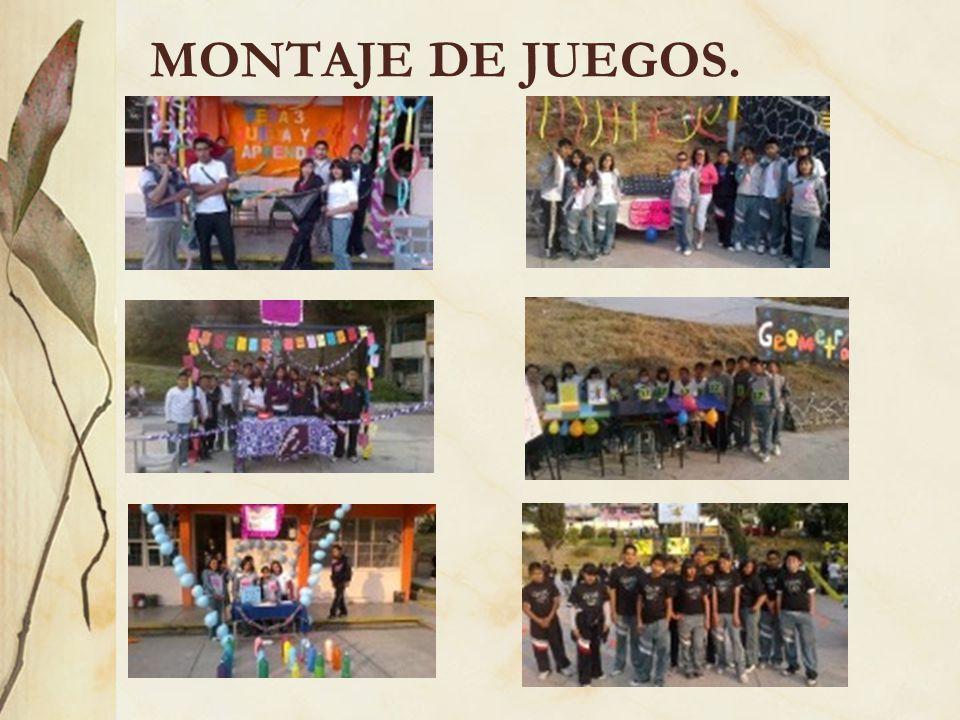 MONTAJE DE JUEGOS.