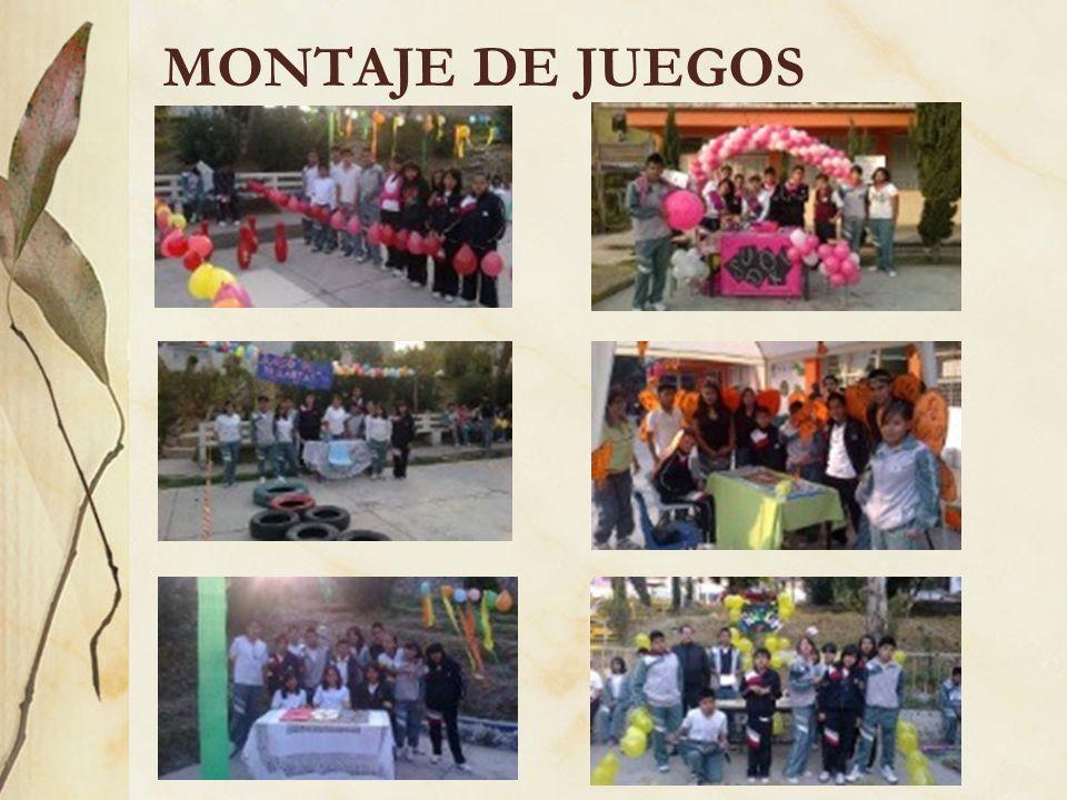 MONTAJE DE JUEGOS