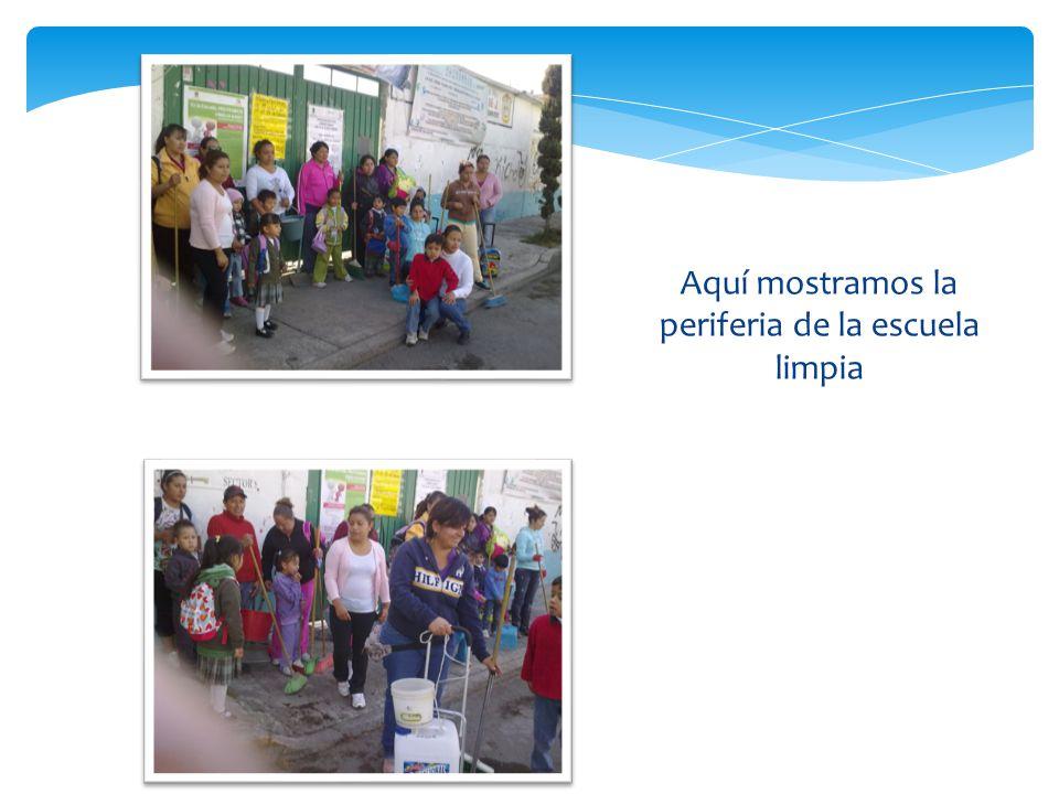 ANTESDESPUES Así quedó la escuela después de la campaña, aunque con tristeza observamos que después de una hora la gente había vuelto a tirar basura