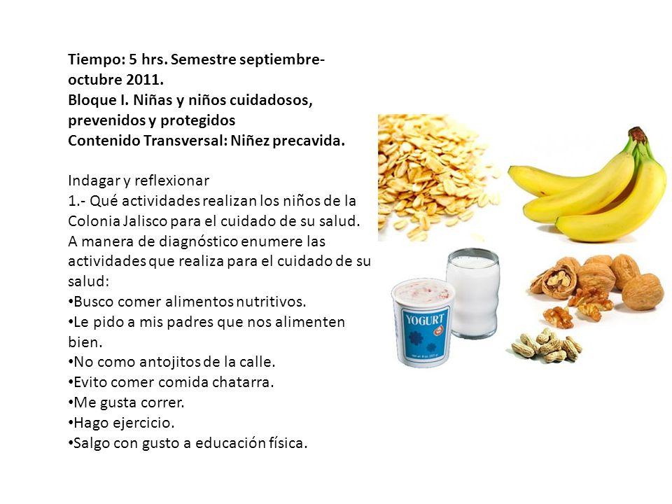 2.- Cuáles son los alimentos que más consumen en casa, en la calle y en la escuela.