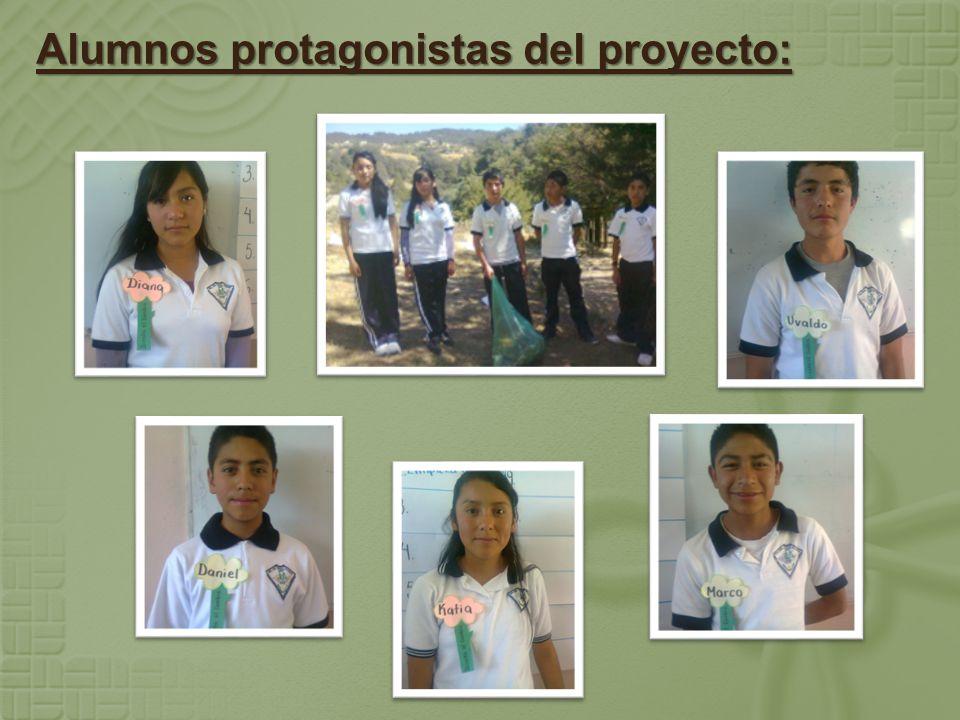 Alumnos protagonistas del proyecto: