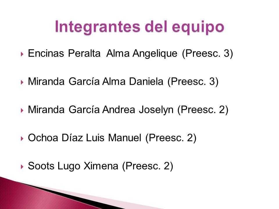 Encinas Peralta Alma Angelique (Preesc.3) Miranda García Alma Daniela (Preesc.