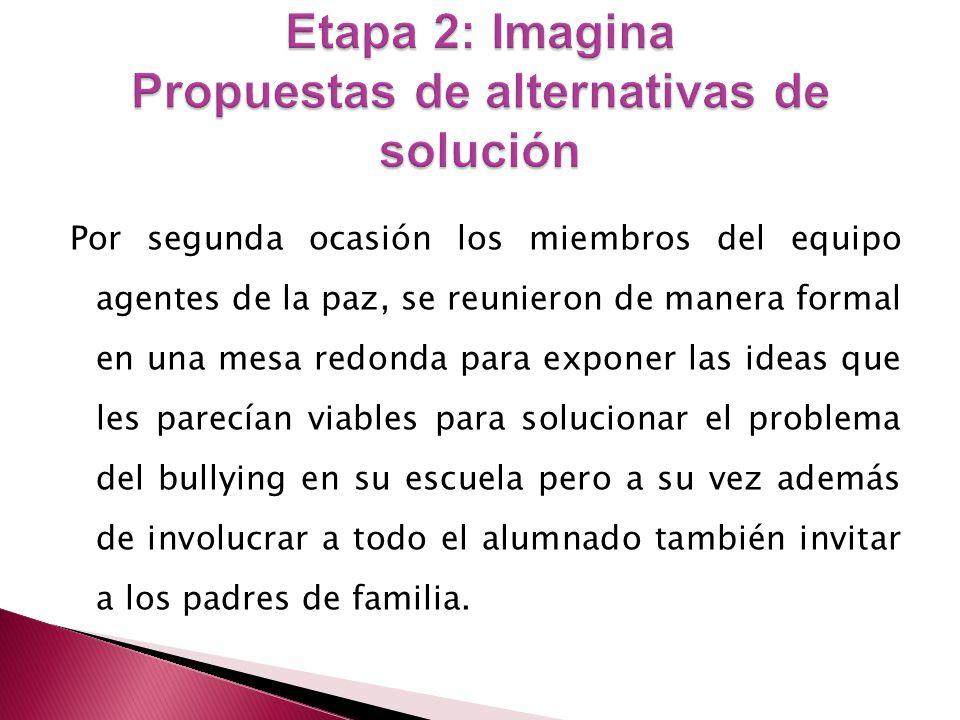 Para proponer las alternativas de solución fue necesario que los niños crearan un concepto propio, quedando se la siguiente manera.