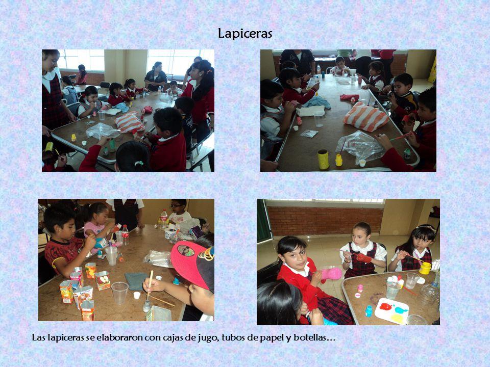 Lapiceras Las lapiceras se elaboraron con cajas de jugo, tubos de papel y botellas…