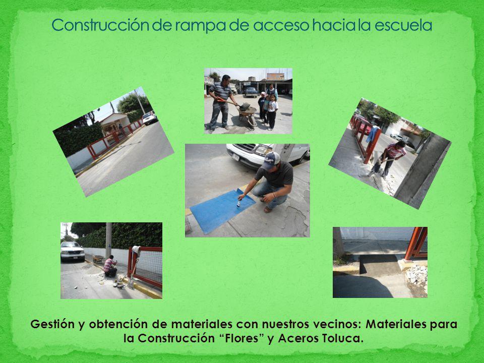 Gestión y obtención de materiales con nuestros vecinos: Materiales para la Construcción Flores y Aceros Toluca.