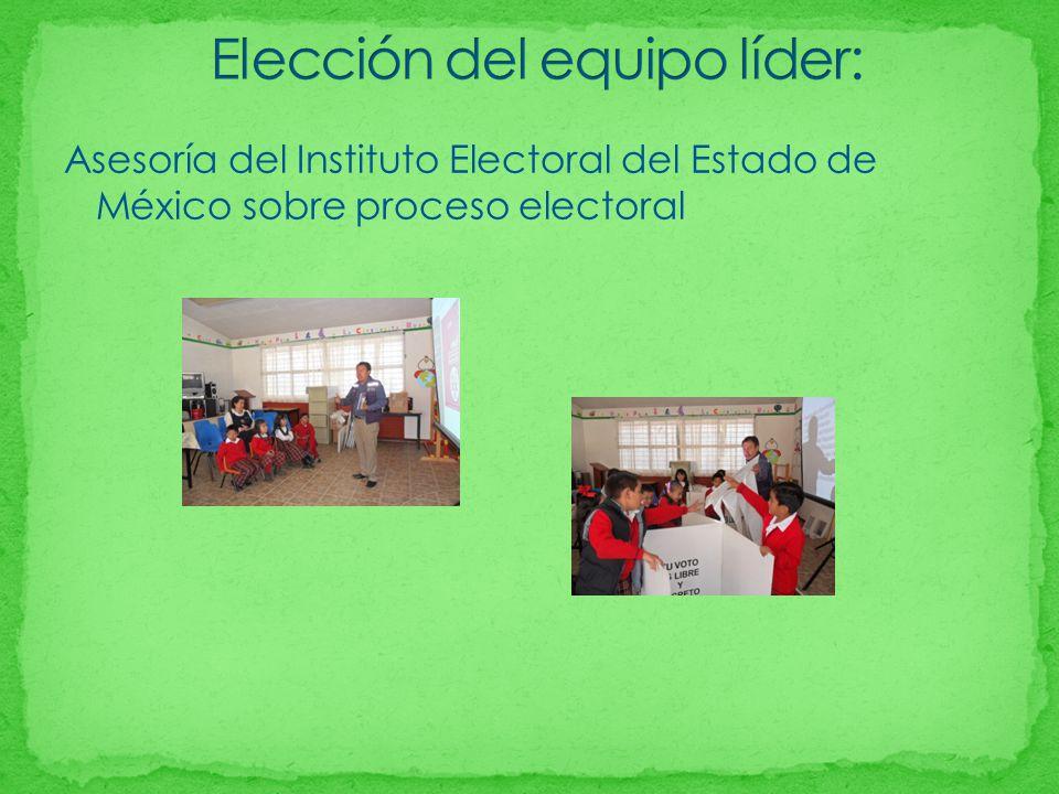 Asesoría del Instituto Electoral del Estado de México sobre proceso electoral