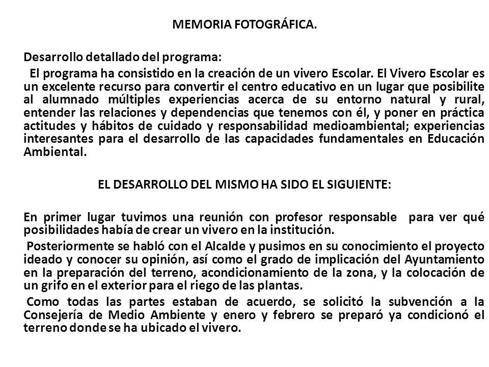 MEMORIA FOTOGRÁFICA.