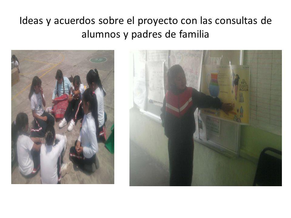 Ideas y acuerdos sobre el proyecto con las consultas de alumnos y padres de familia