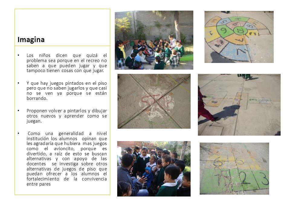 Haz Con el apoyo de docentes y padres de familia se repintaron algunos juegos de piso ya existentes, así mismo se elaboraron y pintaron otros.