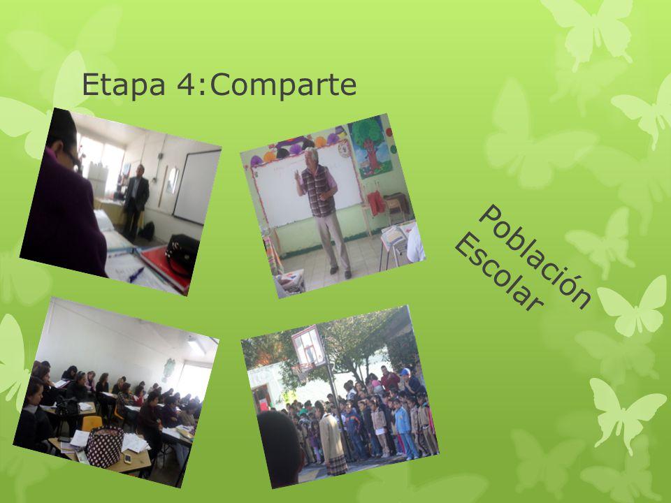 Etapa 4:Comparte Población Escolar