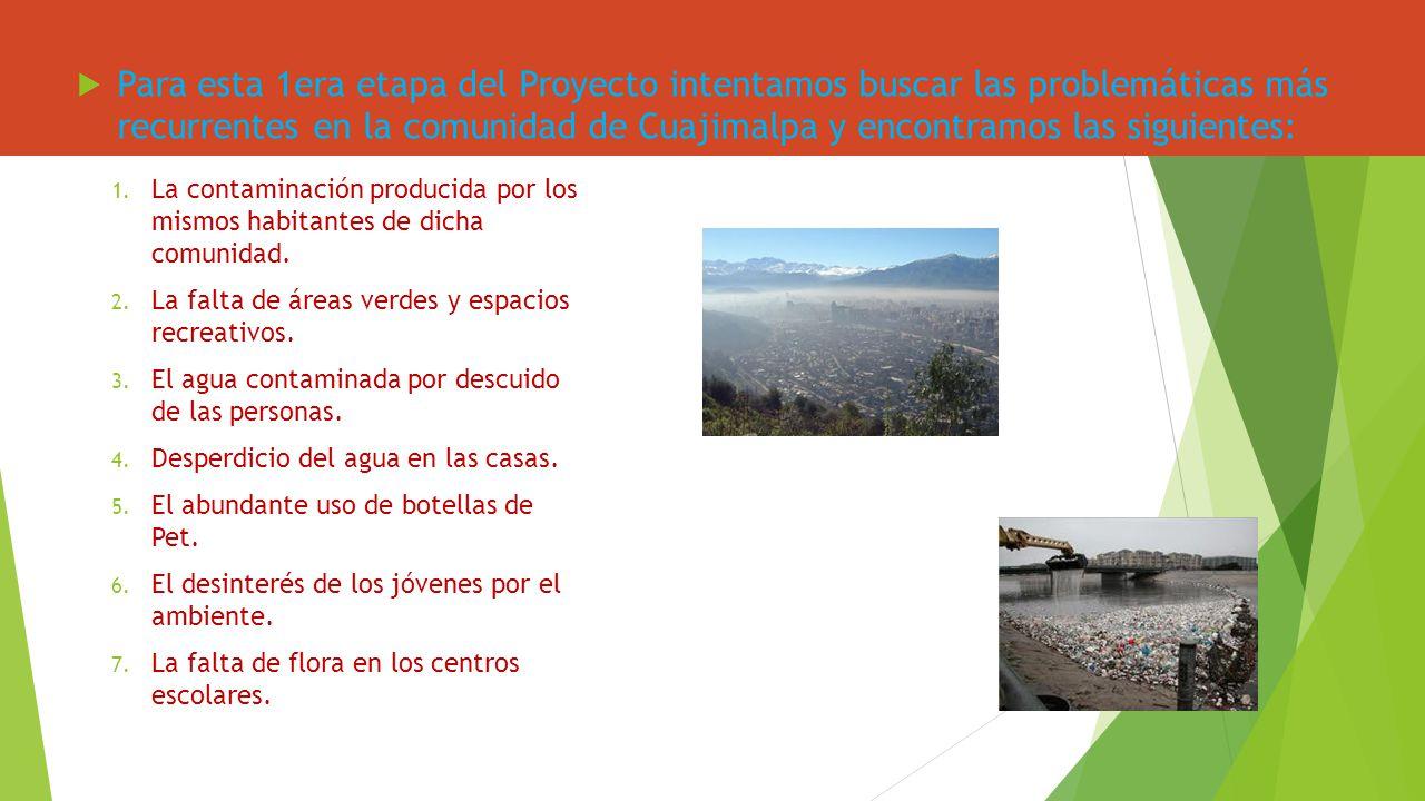 Para esta 1era etapa del Proyecto intentamos buscar las problemáticas más recurrentes en la comunidad de Cuajimalpa y encontramos las siguientes: 1. L