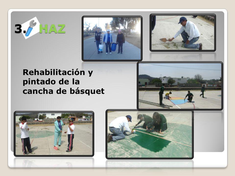 3. HAZ Rehabilitación y pintado de la cancha de básquet