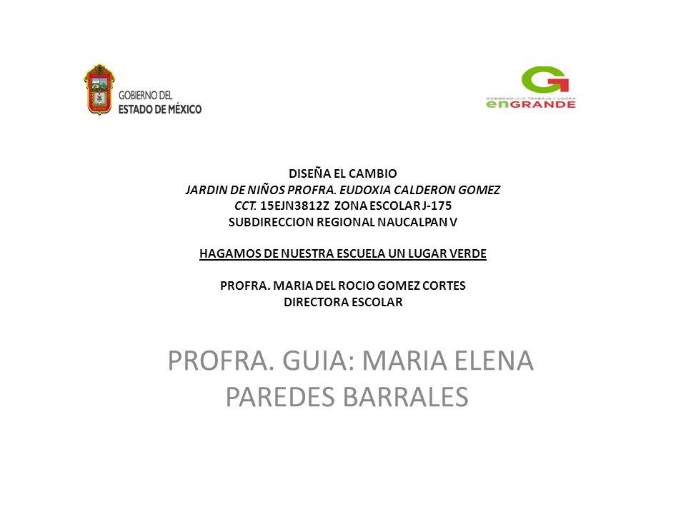 INTRODUCCION EL JARDIN DE NIÑOS PROFRA.
