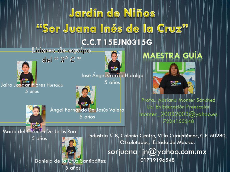 C.C.T 15EJN0315G Industria # 8, Colonia Centro, Villa Cuauhtémoc, C.P.