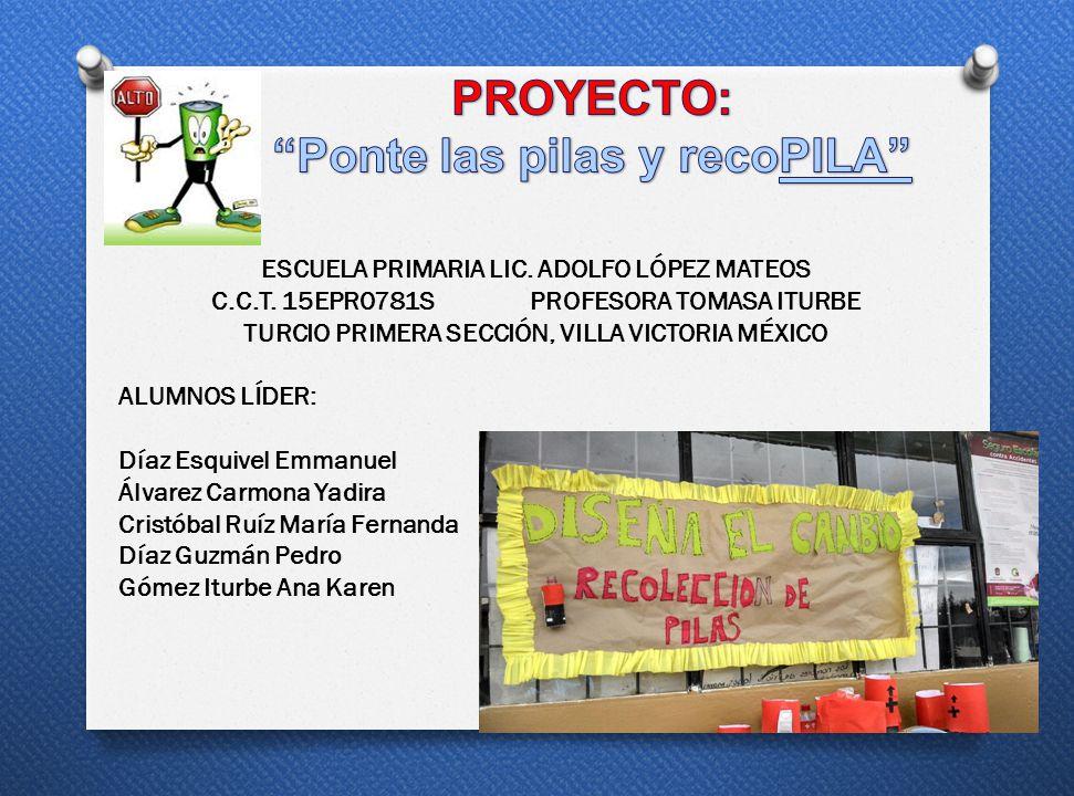 Promover la recolección de pilas en la Escuela Lic.