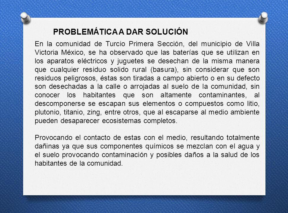 En la comunidad de Turcio Primera Sección, del municipio de Villa Victoria México, se ha observado que las baterías que se utilizan en los aparatos el