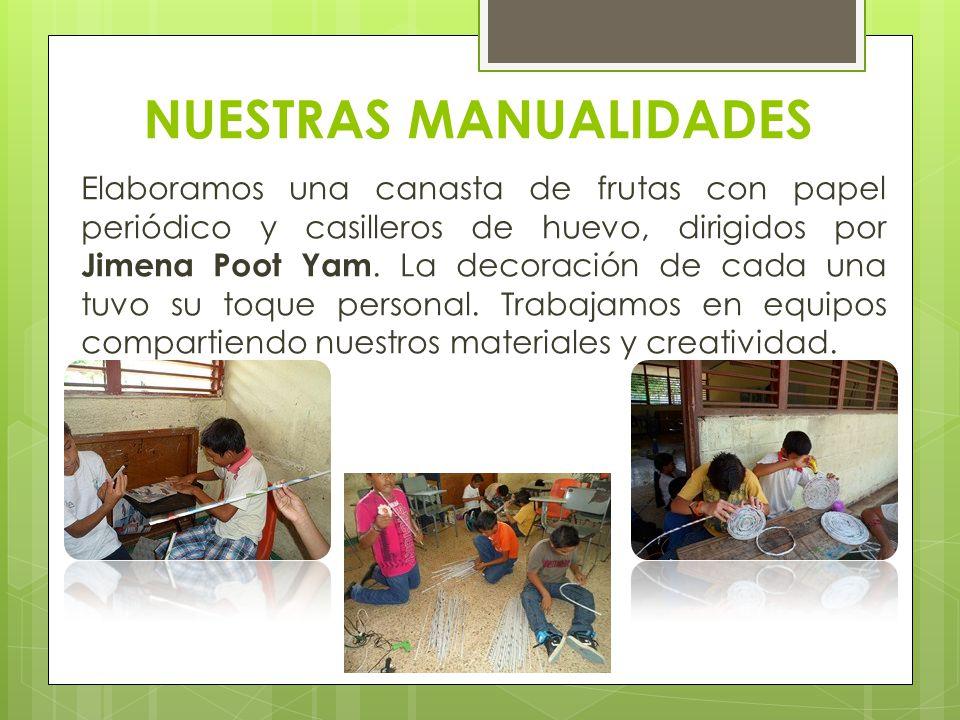 CANASTA DE FRUTAS Elaboramos nuestras canastas y las decoramos, nuestra maestra nos ayuda.