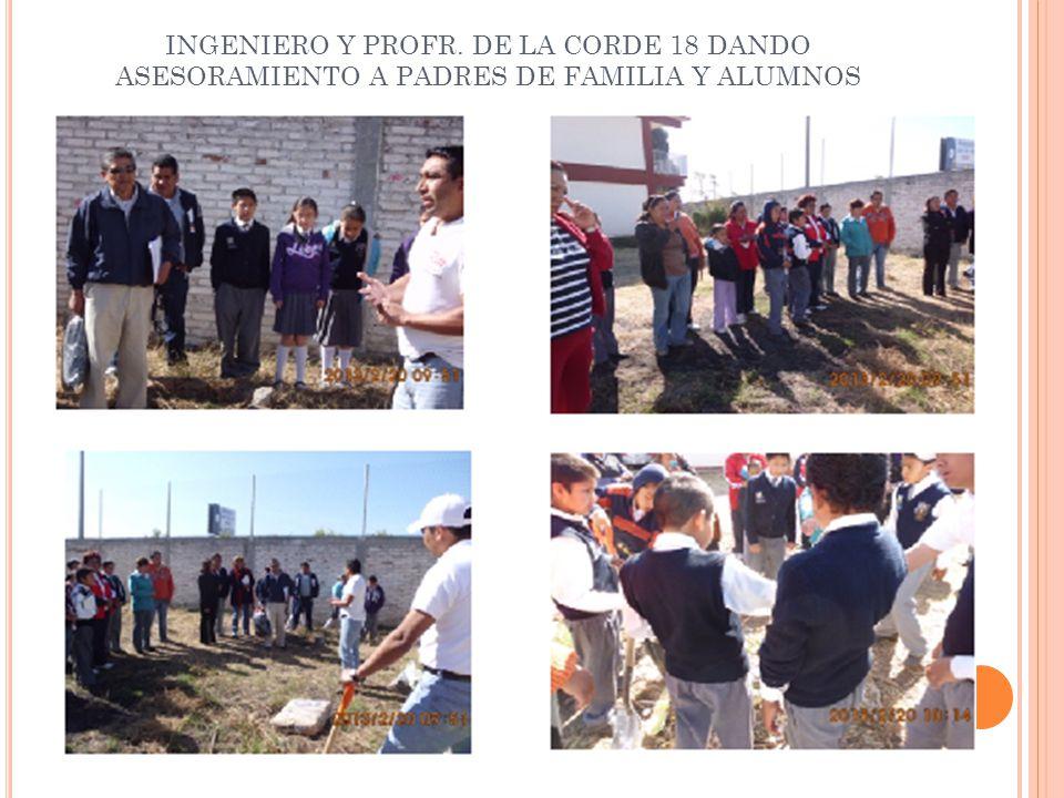 INGENIERO Y PROFR. DE LA CORDE 18 DANDO ASESORAMIENTO A PADRES DE FAMILIA Y ALUMNOS